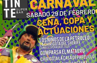 Cena de Carnaval en El Tinte Superbar