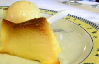 Tarta de queso con confitura de frambuesa de El Copo