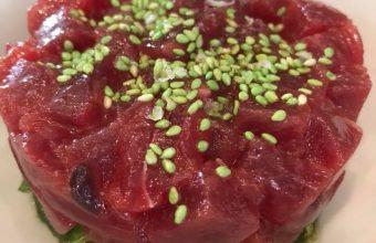 El tartar de atún rojo de La Barra de Rosario