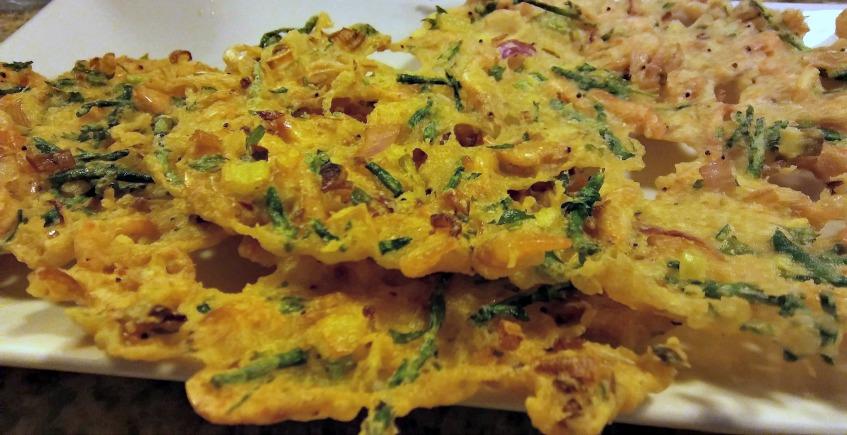 La tortillita de camarones y salicornia de Sondemar