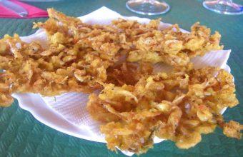 Las tortillitas de camarones de Las Rejas de Bolonia