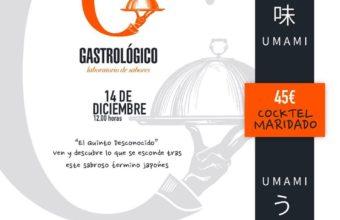 Cóctel maridado Umami en Gastrológico de Cádiz