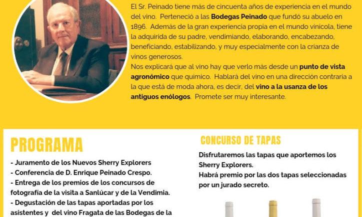 Encuentro de Sherry Explorers el 3 de octubre en El Puerto