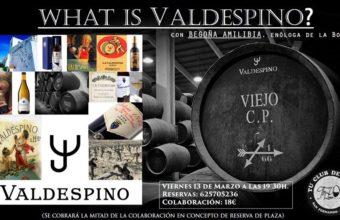 Cata sobre Valdespino en The Wine Room Club de Vinos