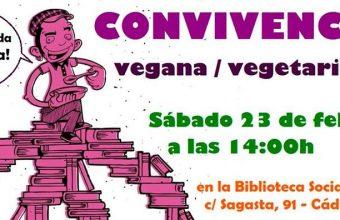 23 febrero. Cádiz. Convivencia vegana y vegetariana