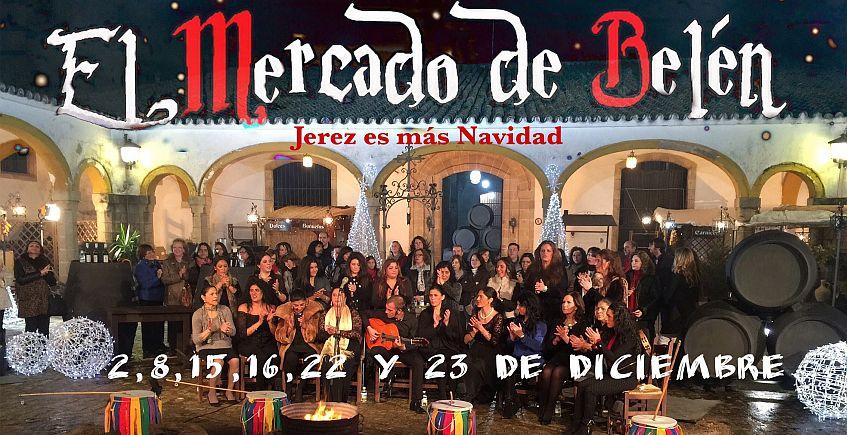 2, 8, 15, 16, 22 y 23 de diciembre. Jerez. Zambomba con mercado gastronómico.