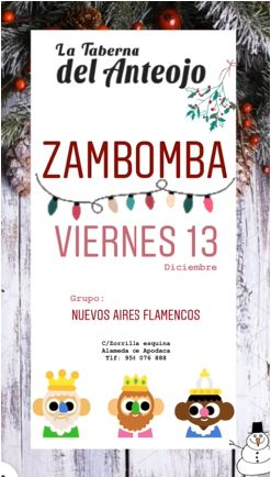 Zambombas en La Taberna del Anteojo de Cádiz