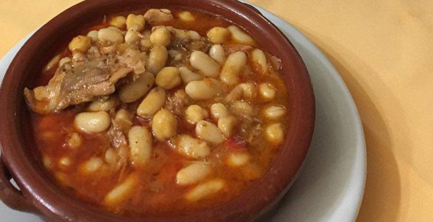 Las habichuelas con perdiz del restaurante Venta Gabriel