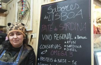 Marina Silva en puesto Sabores de Portugal