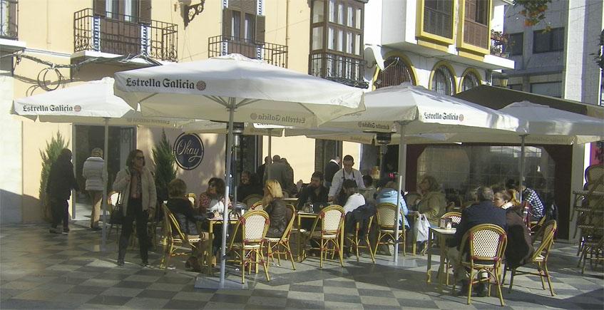 Terraza pastelería