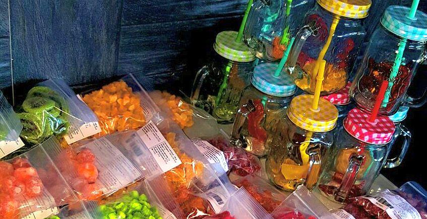 Una tienda especializada en fruta deshidratada