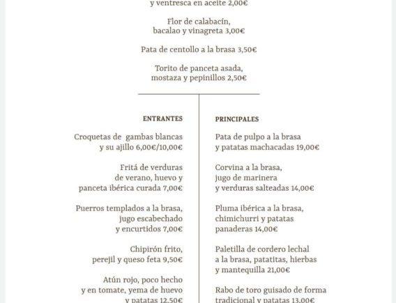 carta sabor andaluz
