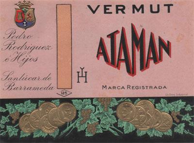 Una de las primitivas etiquetas que se utilizaban para Ataman.