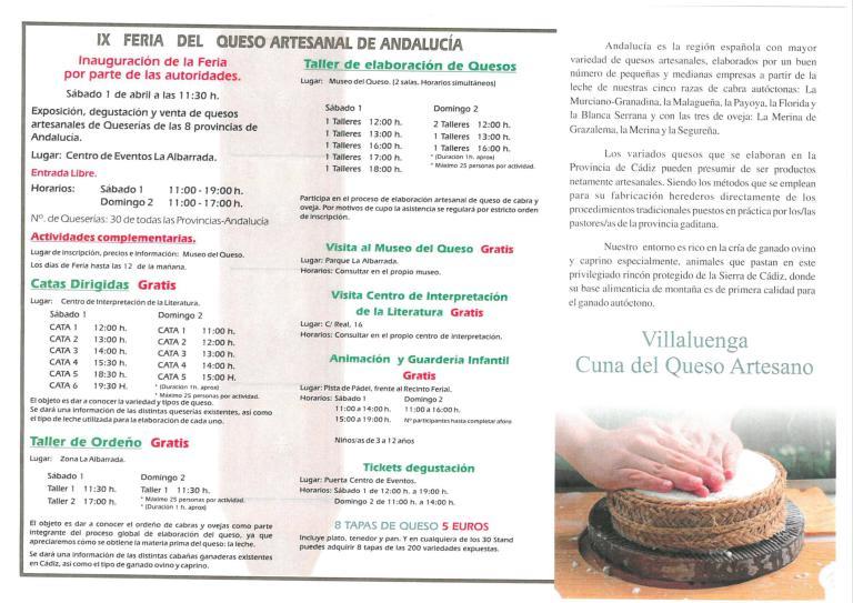 IX Feria del Queso Artesanal de Andalucía