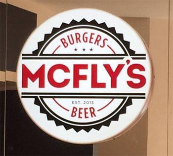 El logotipo de la hamburguesería. Foto: Cedida por Mc Fly's