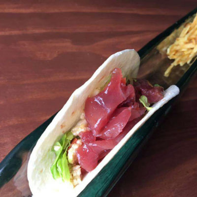 Una de la las propuestas de cocina fusión. Foto: Cedida por Atún y Chocolate