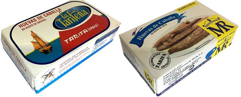 Huevas de caballa en aceite, nuevo producto de la conservera de Tarifa