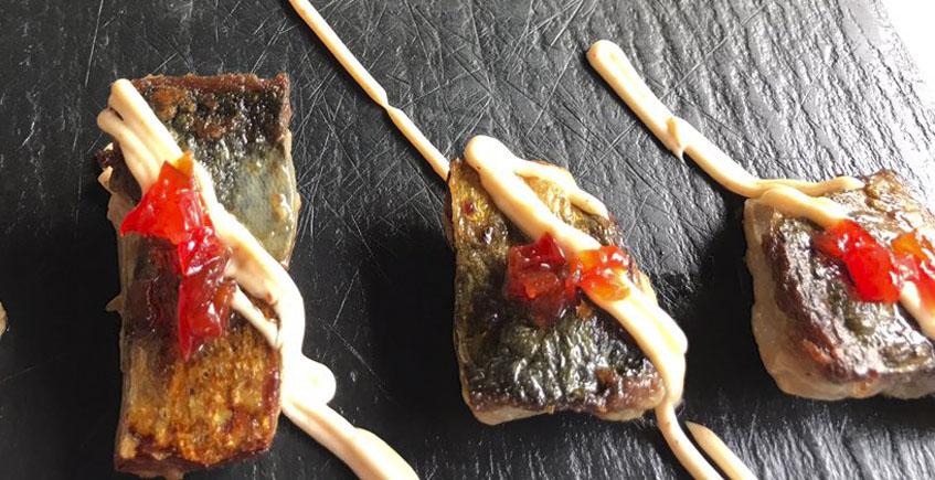 Las caballas marinadas con mayonesa de Kinchee