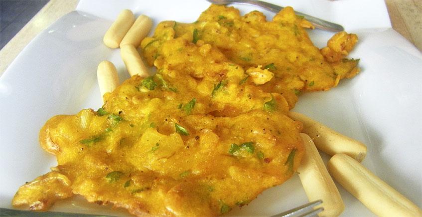 Las tortillitas de camarones del Bar Camaron