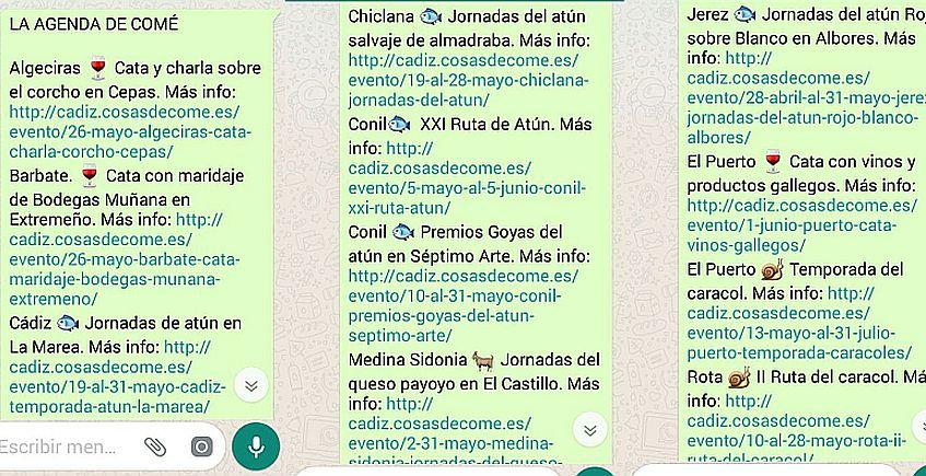 La agenda de comé ya llega a más de 500 suscriptores por WhatsApp