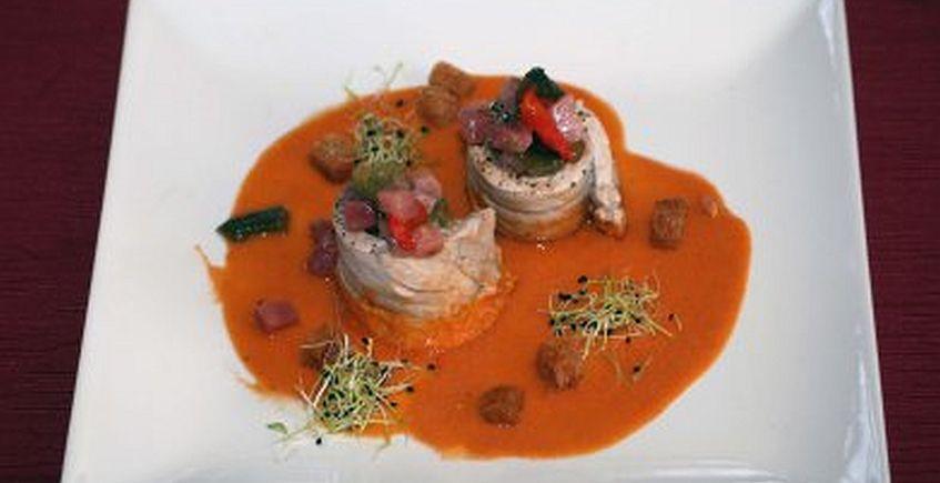 Segundo Premio: Turbante de Atún de Almadraba en Salsa de Carabineros, Restaurante Los Pescadores
