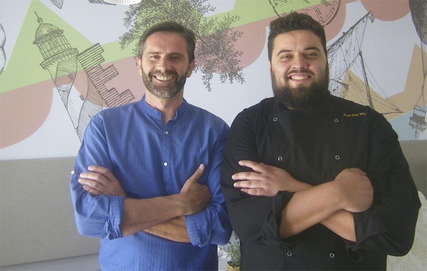 José Manuel Morillo y Juan Viu en La Breña. Foto: Cosasdecome