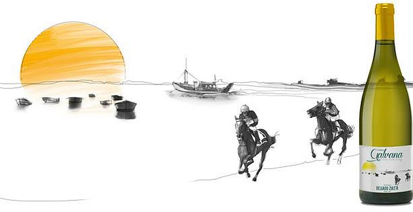 Viña Galvana homenajea a las carreras de caballos de Sanlúcar