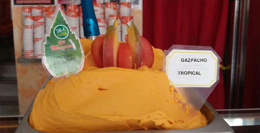 Sorbete de mango y gazpacho en Da Massimo