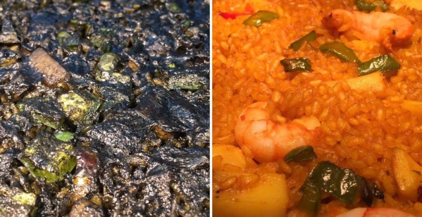 Arroz negro y arroz del señorito de El Faro de El Puerto