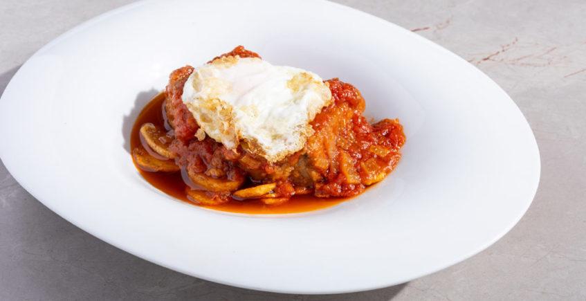 Atún en tomate del Restaurante Antonio de Zahara