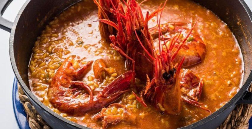 Caldero de arroz con carabineros de Francisco El de Siempre de El Palmar