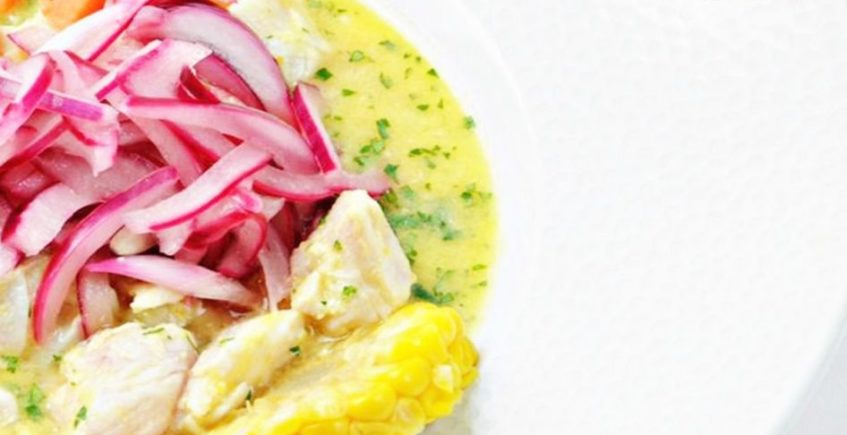 Ceviche de pez mantequilla en Pantalán G de El Puerto