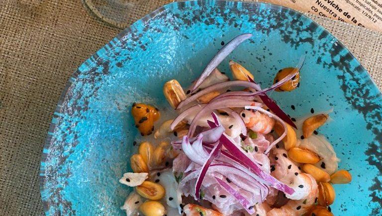 Ceviche tradicional peruano y margarita de El Chile Habanero de Jerez