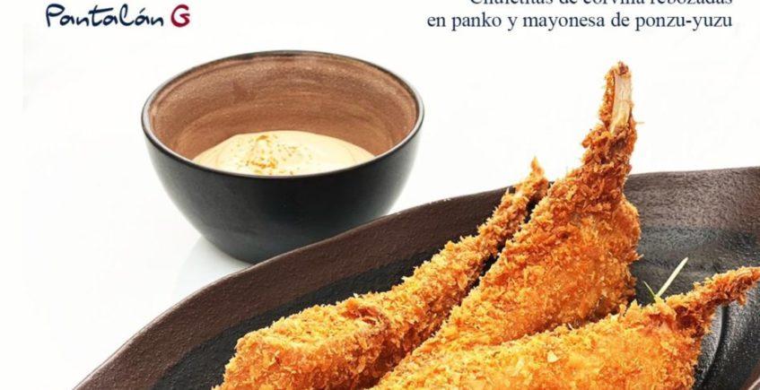 Chuletitas de corvina rebozadas en panko y mayonesa de ponzu-yuzu en Pantalán G de El Puerto
