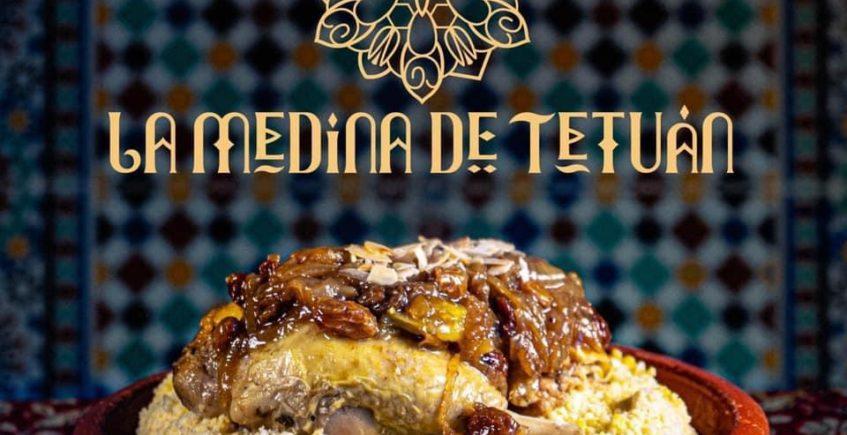 Cous Cous de pollo con cebolla caramelizada y pasas sultanas y almendras de La Medina de Tetuán de Chiclana