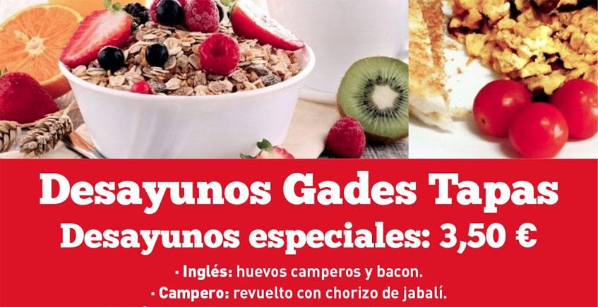 Desayunos internacionales en Gades Tapas