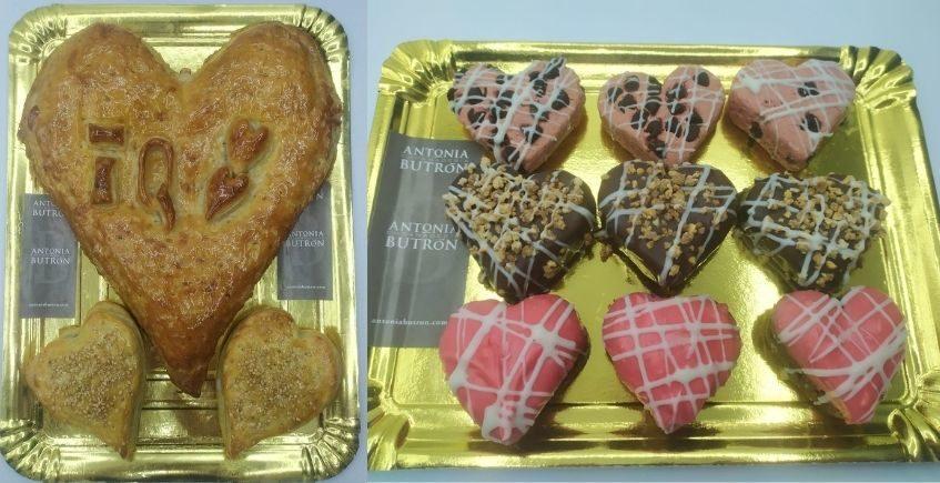 Empanada en forma de corazón de dátil, york y queso o de atún. Disponen de venta online. En Antonia Butron