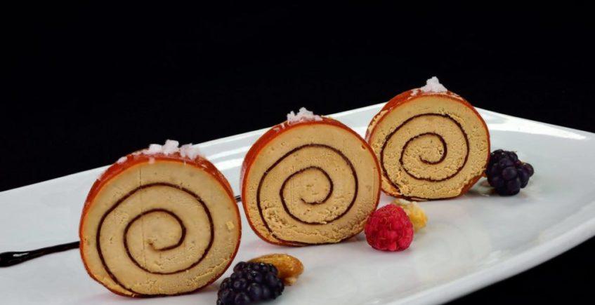 Espirales de foie y membrillo del Ventorrillo del Chato de Cádiz