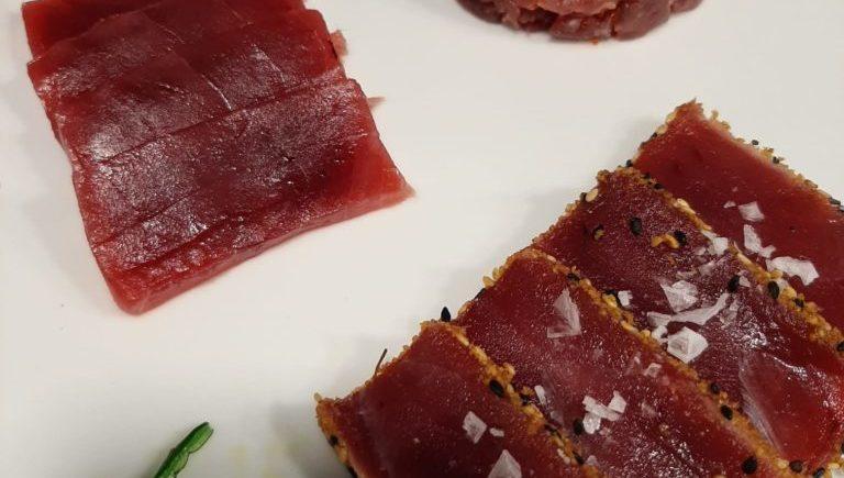 La Marea. Surtido de crudo cien por cien atún rojo salvaje