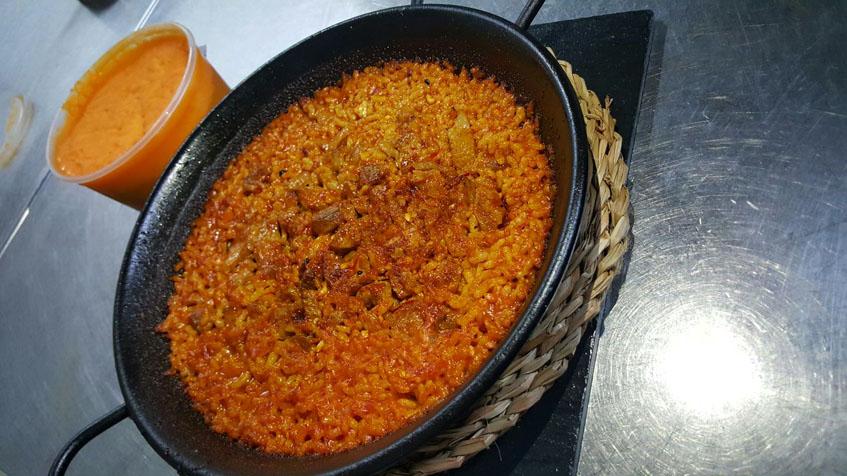 El original arroz con secreto ibérico en manteca de Arohaz. Foto: Cedida por el establecimiento.