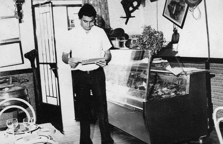 Manolo Moreno en El Copo en el año de fundación 1979. Foto: Cedida por El Copo