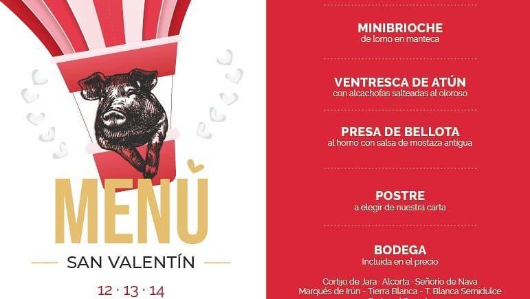 Menú de San Valentín de La Bodeguilla del Bar Jamón de El Puerto