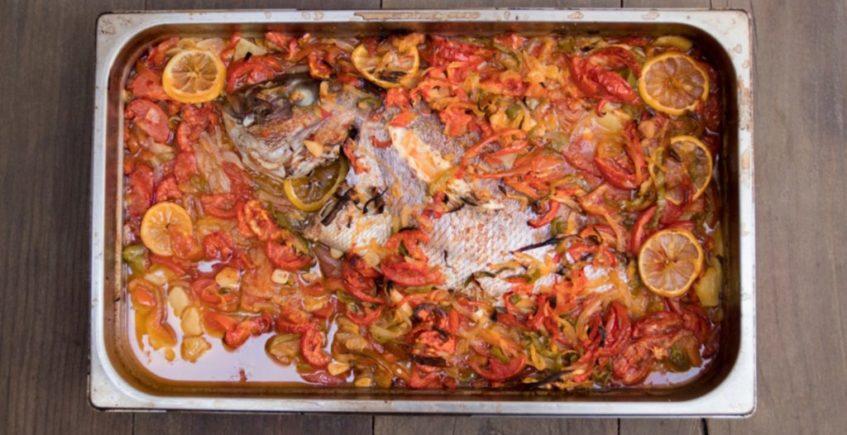 Pescado al horno en la Venta Pinto de Vejer