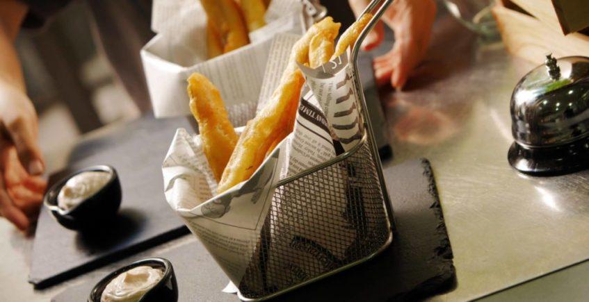 Pijotas fritas en tempura de El Espejo de Sanlúcar