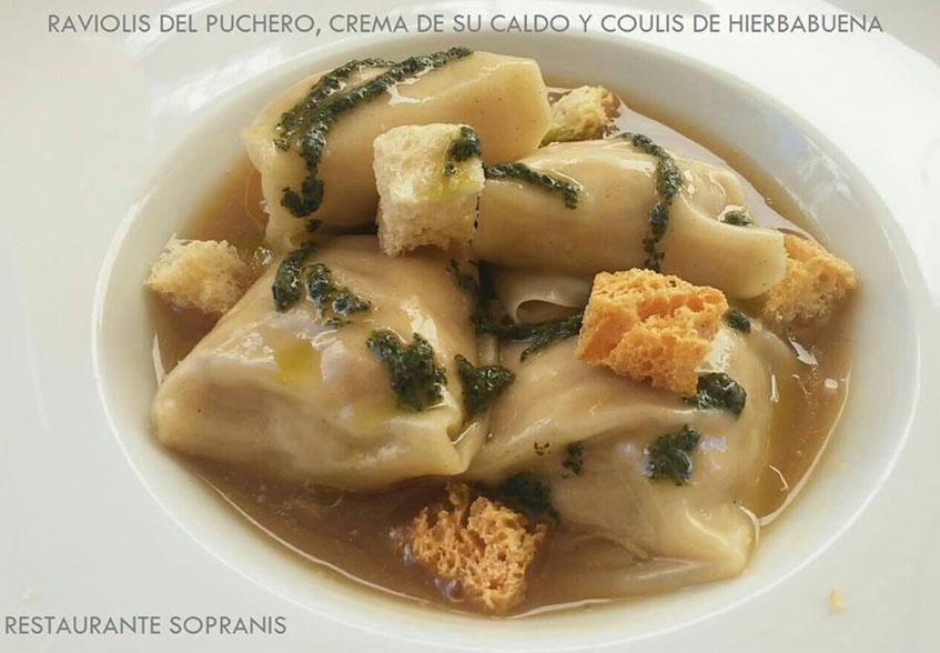 Los raviolis que forman parte del menú de Sopranis. Foto: Cedida por el establecimiento.