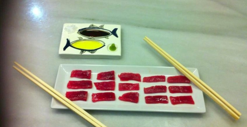 Sashimi de atún rojo de almadraba de La Sorpresa