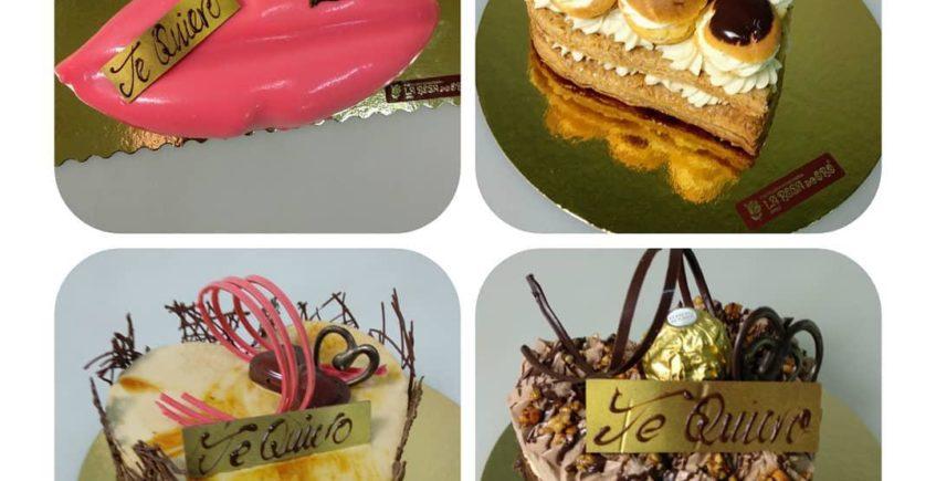 Tartas y dulces de San Valentín de La Rosa de Oro de Jerez