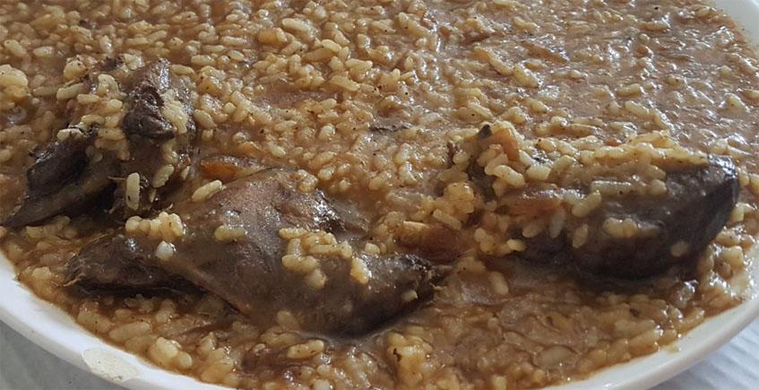 El arroz con pato de la Venta Millán de Sanlúcar