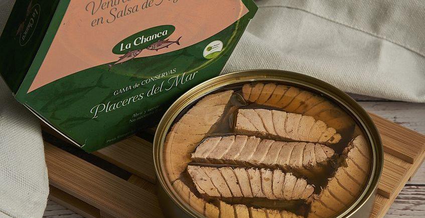 Ventresca de atún en salsa de algas de La Chanca de Barbate