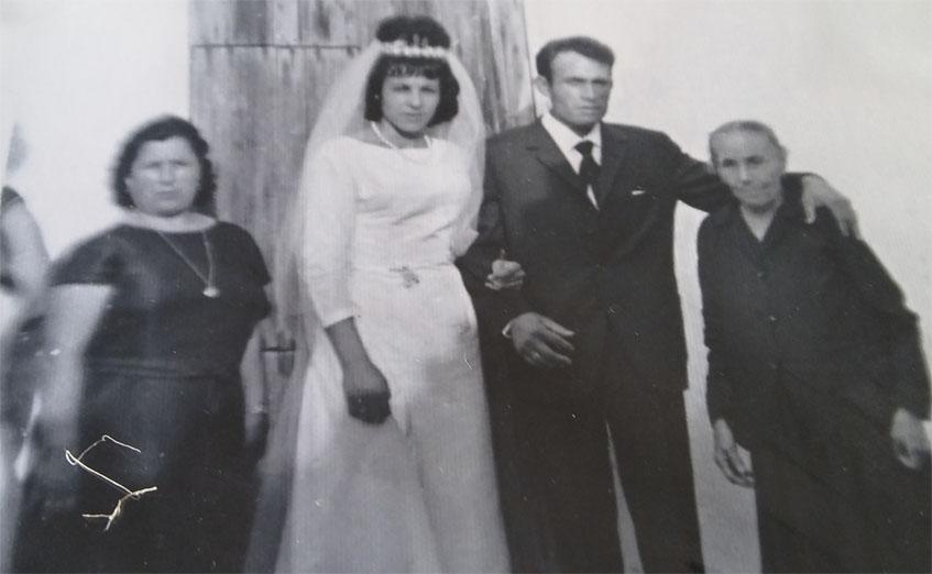 María Erdozain y Rufino García el día de su boda. Foto: Cedida por el bar Rufino
